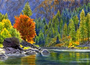 Landscape painting by artist Shari Erickson
