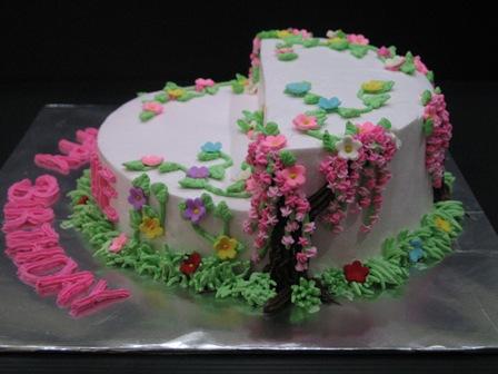 Fun In Cake Decorating: Garden Theme Cake