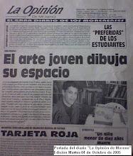 """Portada del diario """"La Opinión de Moreno"""" del día 05 de Octubre de 2005"""