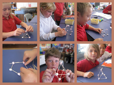 3d Shapes Pyramid. Today we made models of shapes