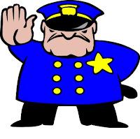 Policeman cartoon