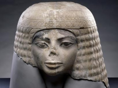 3000 year old Egyptian limestone bust