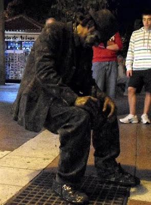 Canary Island street performer