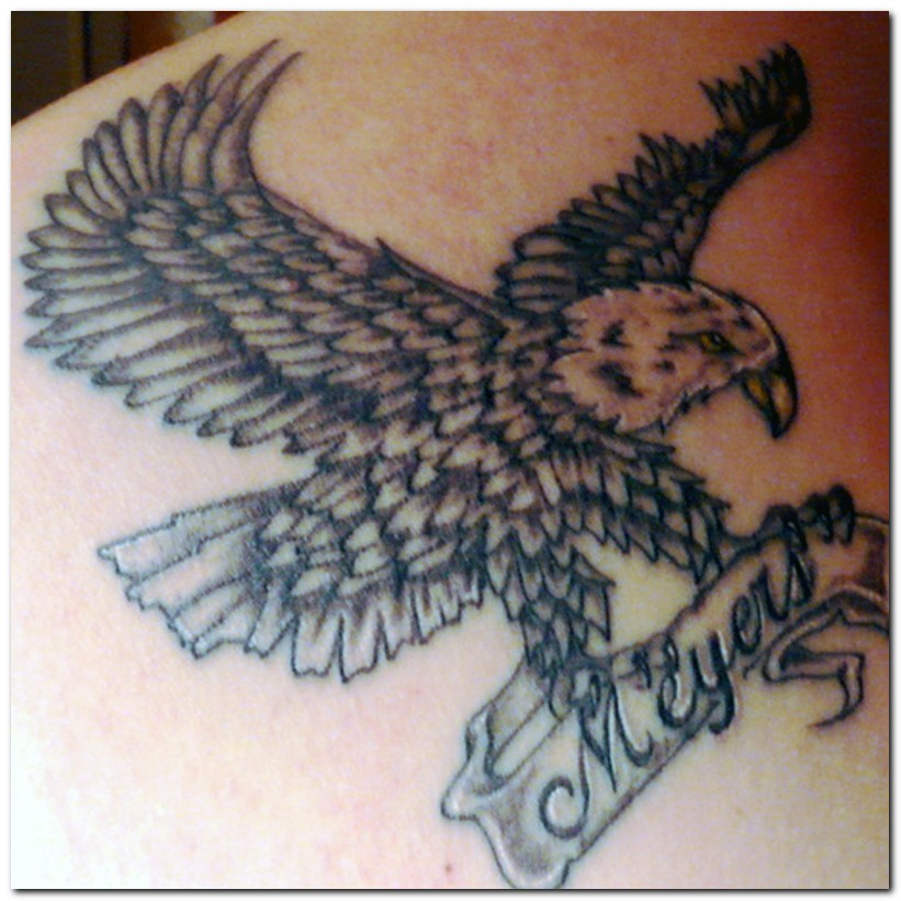 eagle tattoos for women beautiful tattoos art. Black Bedroom Furniture Sets. Home Design Ideas