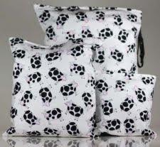 Wahmies web bag in black and white print large diaper wet bag