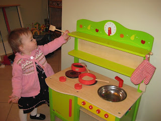 wooden play kitchen for toddlers from HearthSong