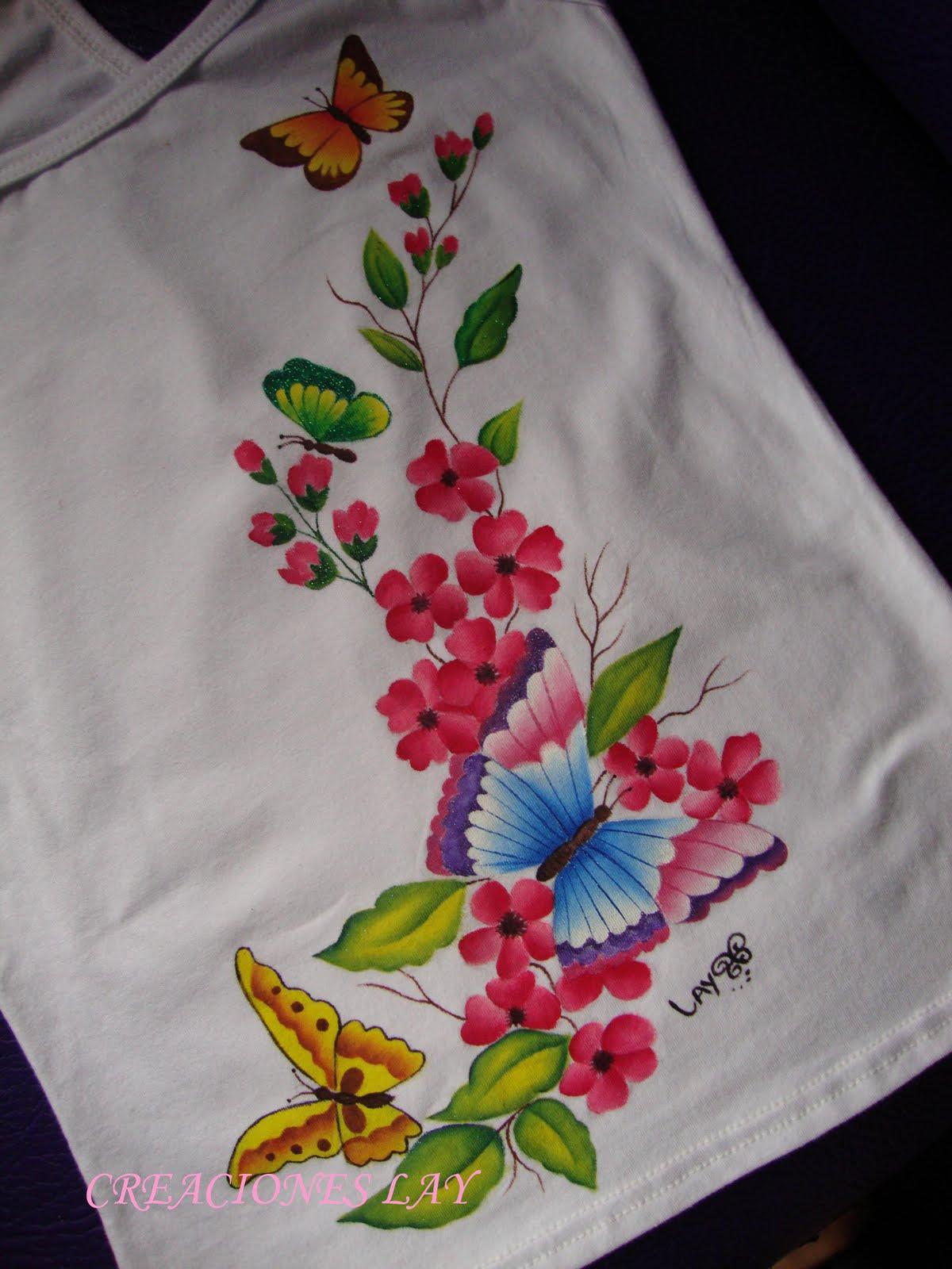 Imagenes flores pintadas en tela - Imagui