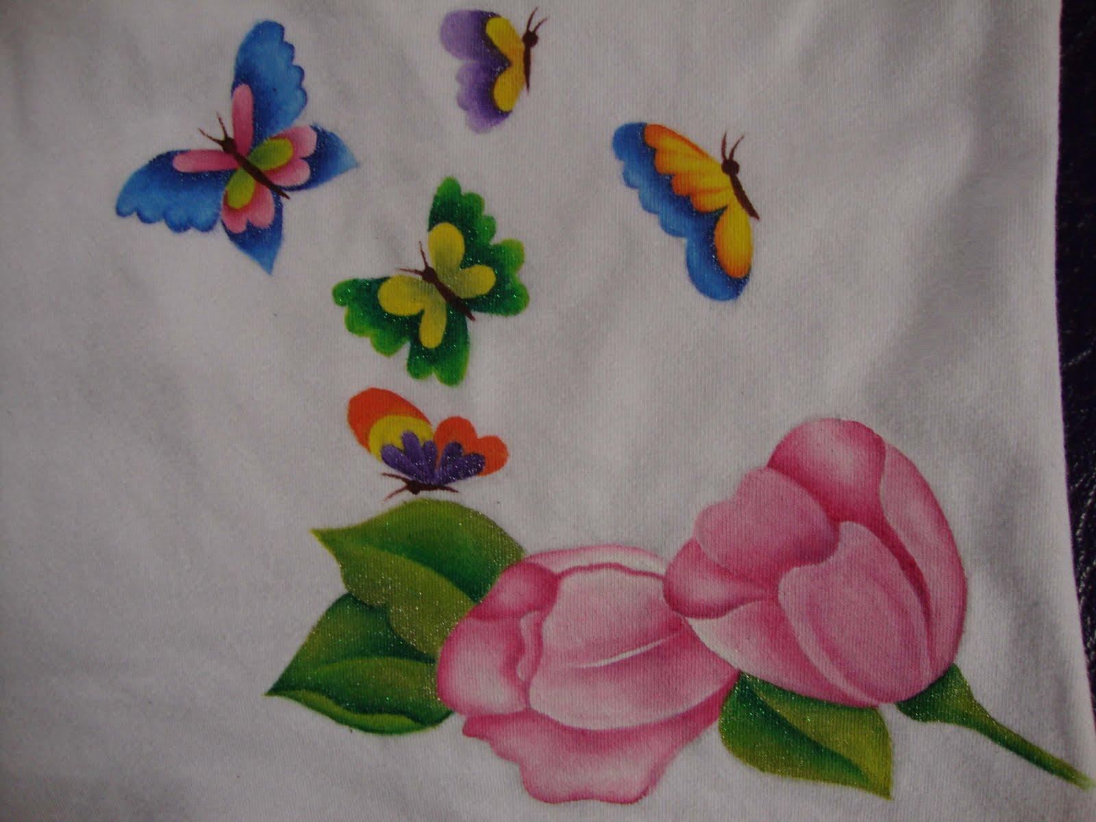 Creaciones lay blusas pintadas a mano - Como pintar telas a mano ...
