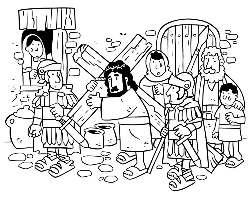 coloring pages easter jesus - Coloring Pages Jesus Cross