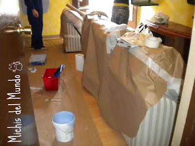 Hemos estado de pintoras en el pisito DSCN1605
