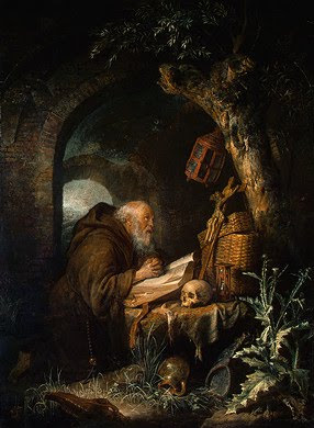 Gerrit Dou, The Hermit,1670