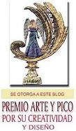 Este blog tiene el premio Arte y Pico a la creatividad.