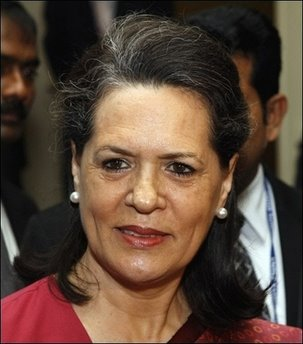 Sonia Gandhi, President, Indian National Congres & MP from Rae Bareli, Uttar Pradesh