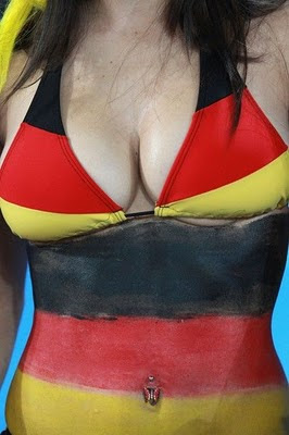 German Fans Come To South Africa With Body Paint