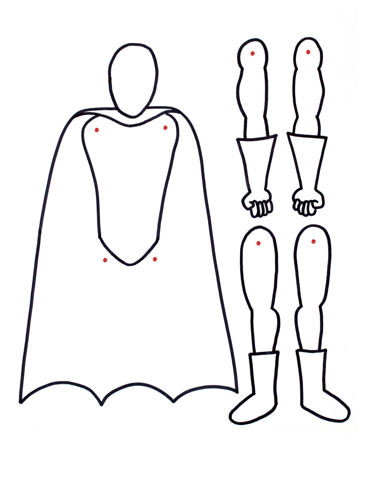 superhero boy outline drawing www