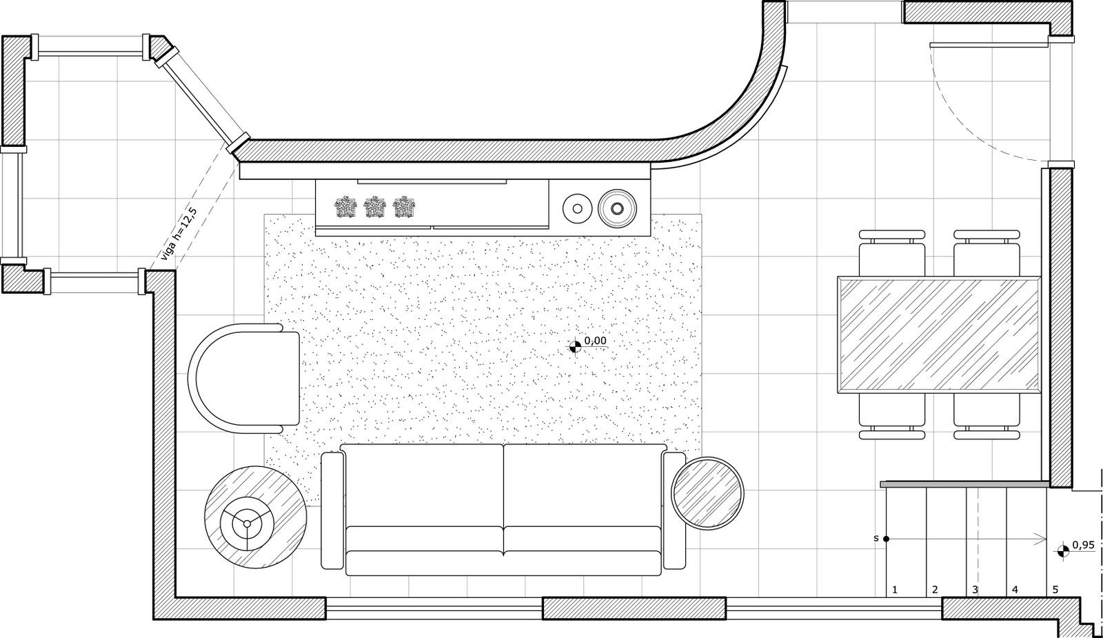 Layout Da Sala De Estar ~ Planta das salas com o layout proposto
