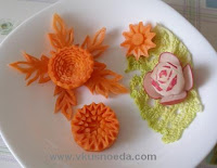 pembuatan hiasan hidangan (Garnish) dari buah dan sayuran meliputi