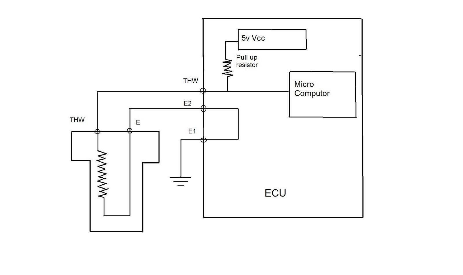 ETS circuit diagram. RPM Sensor or Crank position sensor (CPK)
