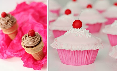 these super fun cupcakes in a cone and these adorable cherry cupcakes