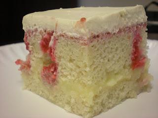 Vanilla Custard with Raspberry Puree