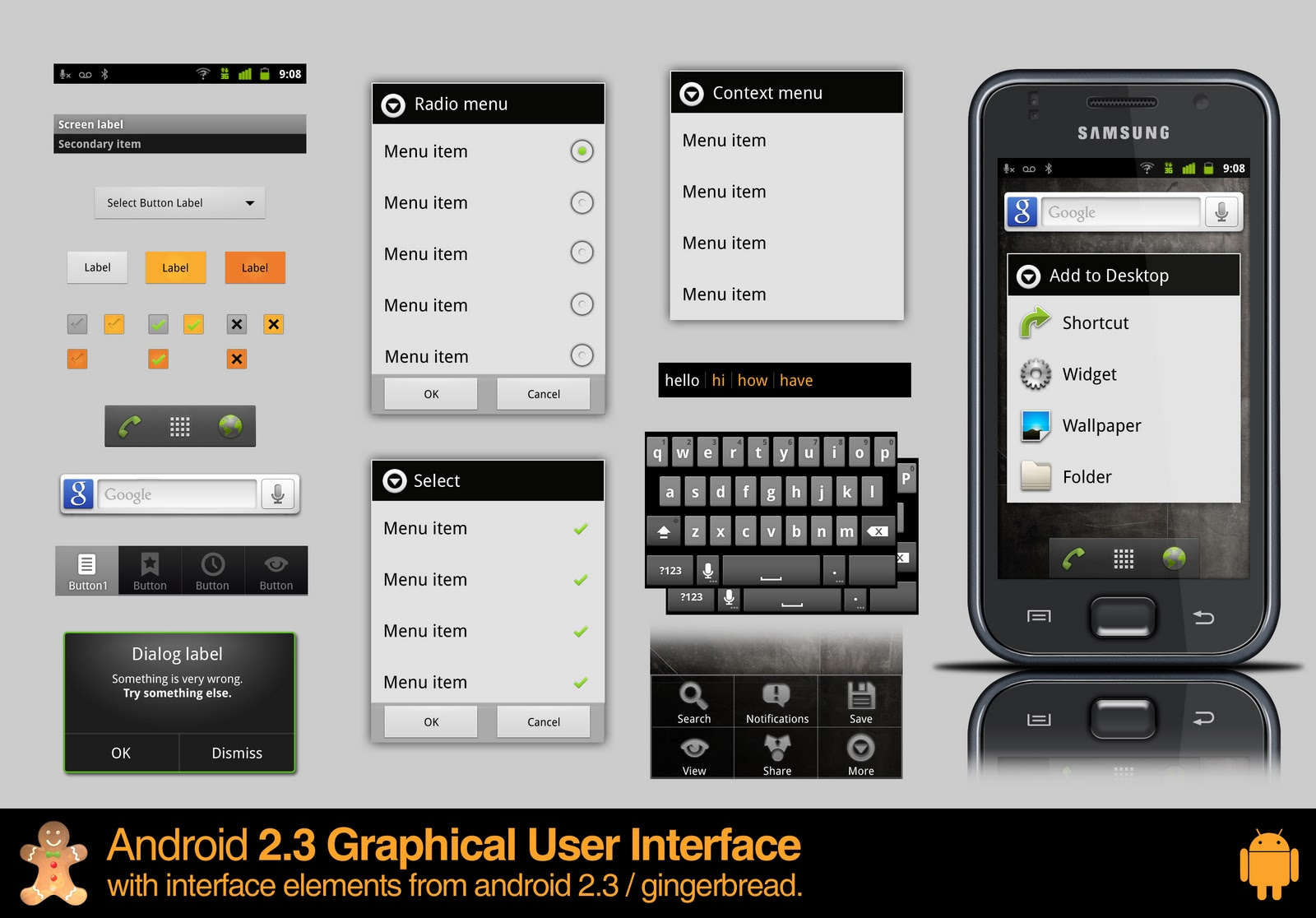 Best UI PSD Phone And Ipad GUI Collection - 1st edition