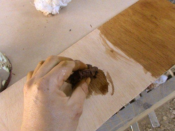 Decoraciones manualidades en madera como matizar colores - Pasta para reparar madera ...
