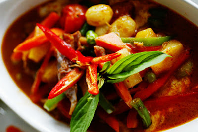 Red Curry with Roast Duck