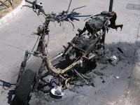 Motorcycle Crash and Burn