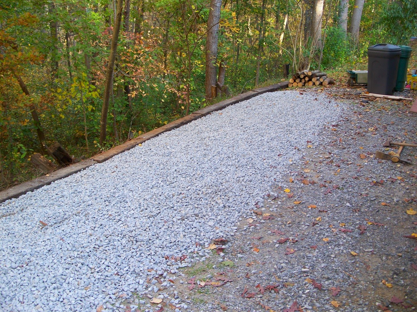 Best Gravel For Driveways Stone : The weatherman s great outdoors raised walkways and