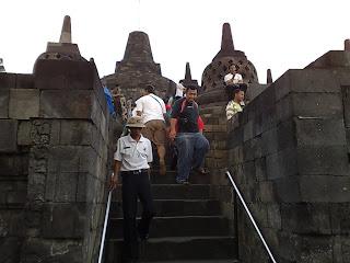 borobudur stairs
