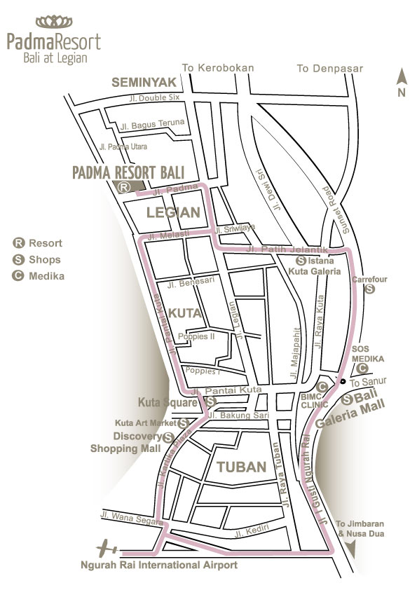 Padma Hotel Resort Map