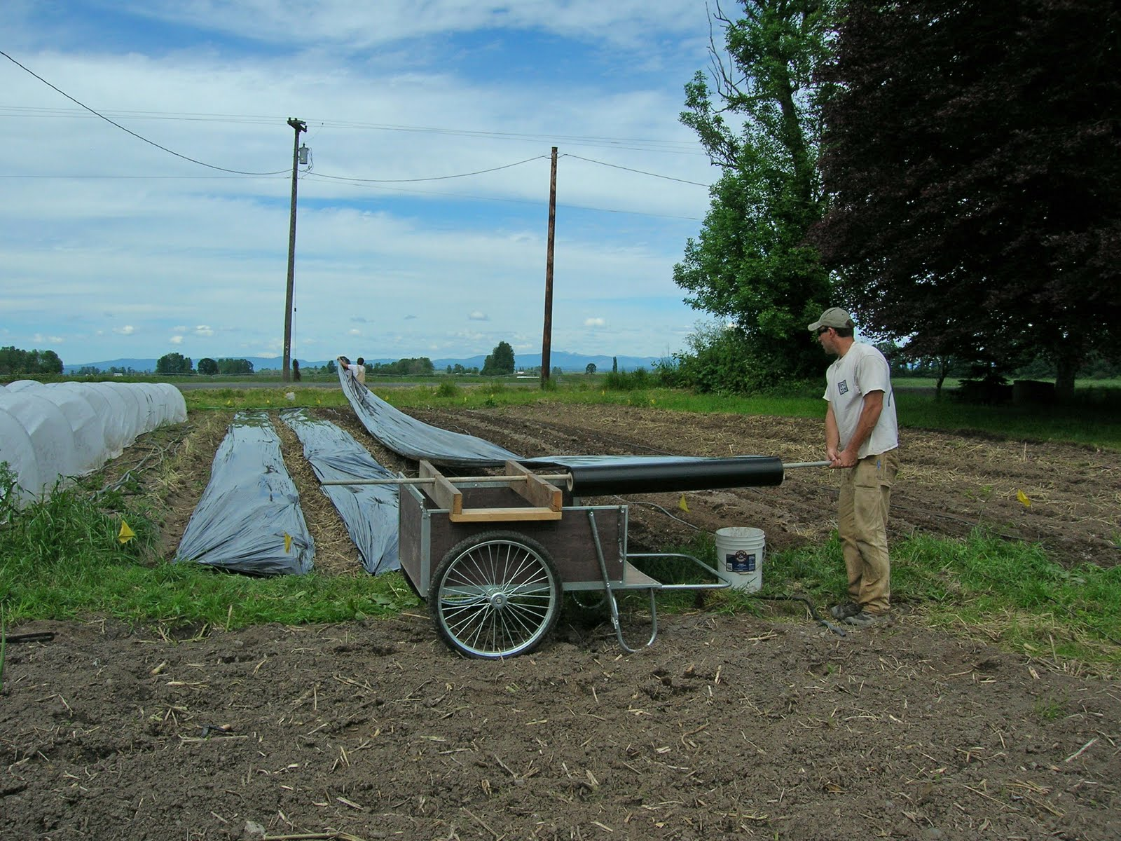 plastic mulching preparation