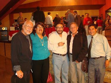 André Cruchaga junto con otros artisas