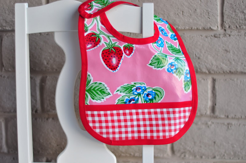 Aesthetic Nest: Sewing: Oilcloth Baby Bib and Checkbook Cover
