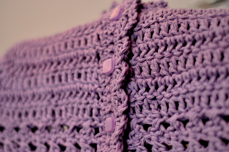 Aesthetic Nest Crochet Lavender Cap Sleeved Cardi
