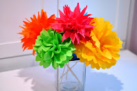 Tutorial: Fiesta Paper Flower Bouquets