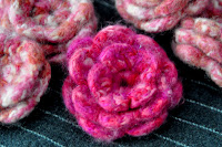 Pattern: Felted Flower Corsage