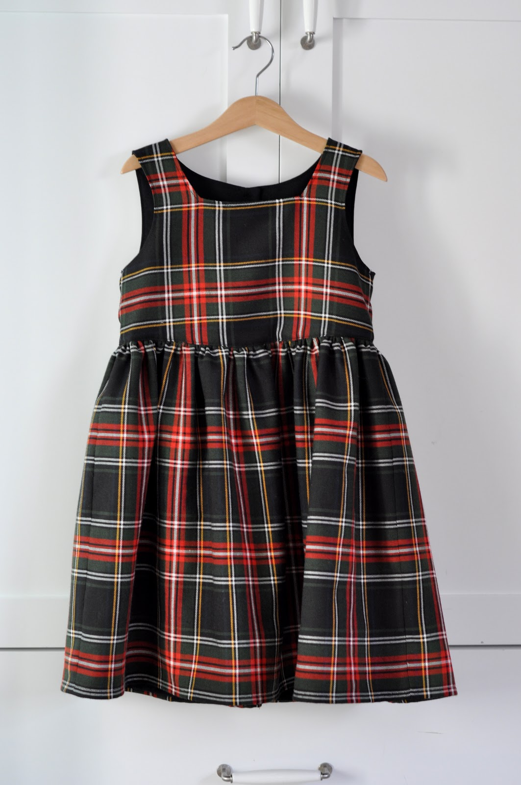 Aesthetic nest sewing plaid christmas dresses