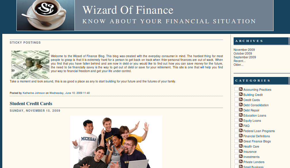 Wizard Of Finance