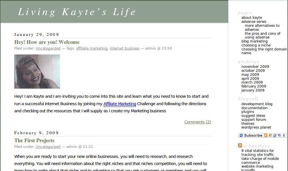 Kayte's Life