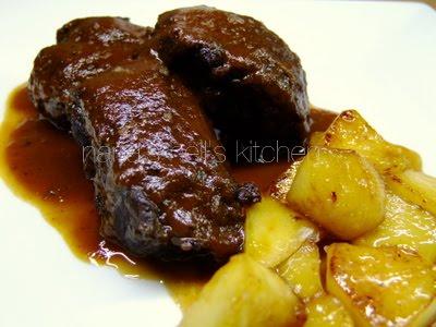 Nana 39 s hell 39 s kitchen carrillera de cerdo ib rico con for Cocinar carrilleras de cerdo