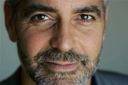[BRAVE FACE: George Clooney has had Bell's palsy. Image: Artist Quirk]