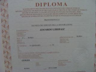 il Diploma di Edoardo 100/100