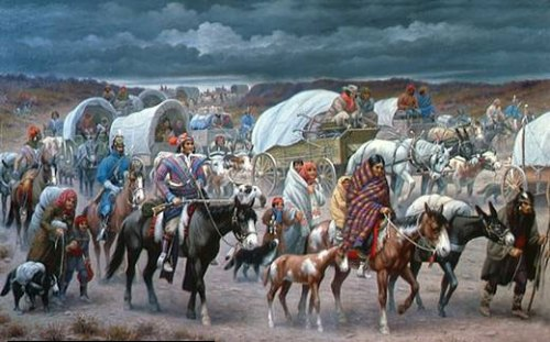 trail of tears. In 1794, after the destruction