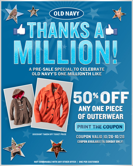 old navy printable coupons 2011. Old Navy weekly hidden Coupons