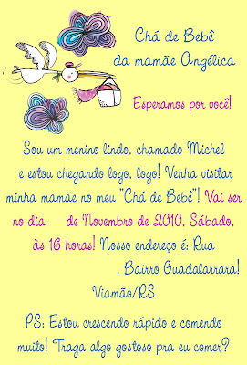 Novo! Convite Boddy para Chá de Bebê!!! - Fazendo a