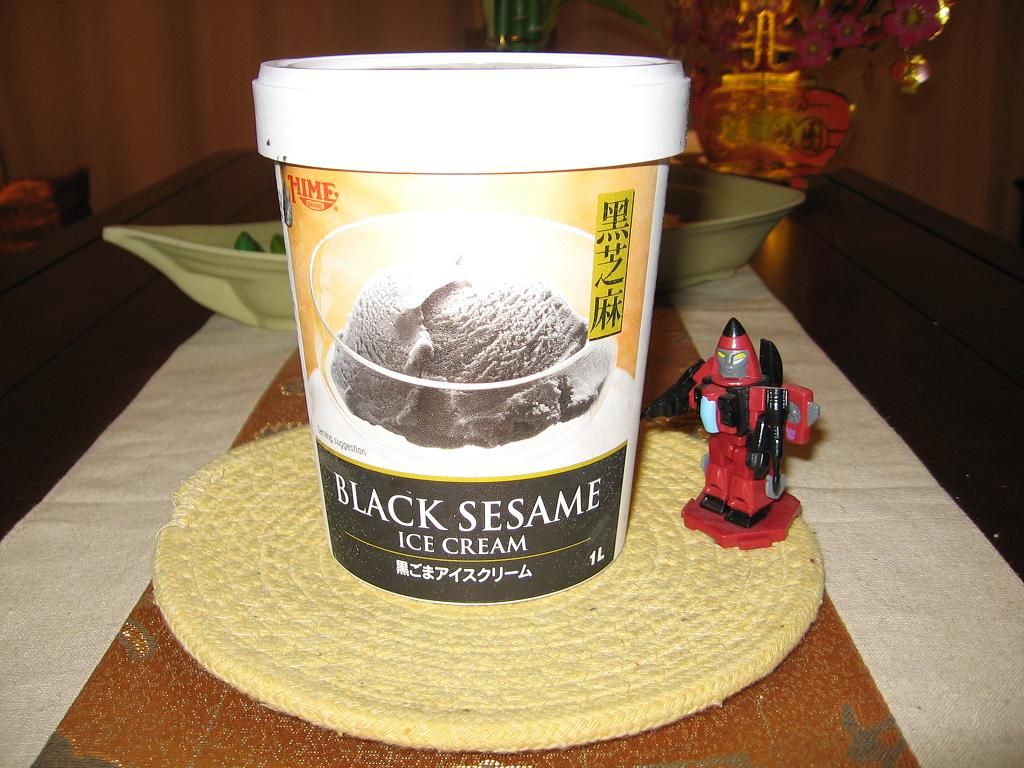 Black Sesame Ice Cream.
