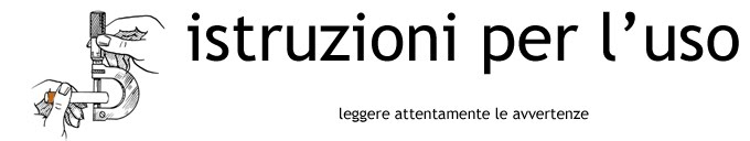 Istruzioni per l'uso