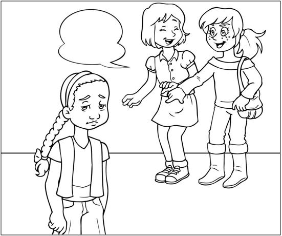 Dibujos para colorear sobre el bullying - Imagui