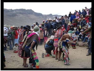 Llameritos en las festividades a la Virgen de las Nieves (Foto: Coracora2.com)